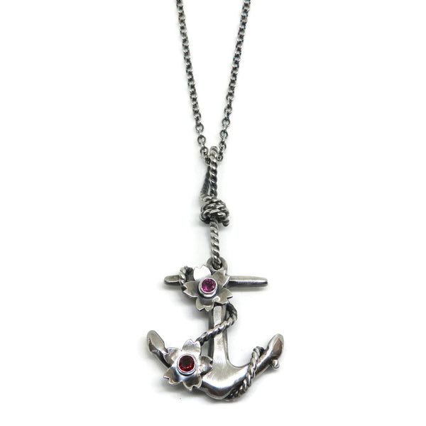 Anchor & Blossoms Necklace