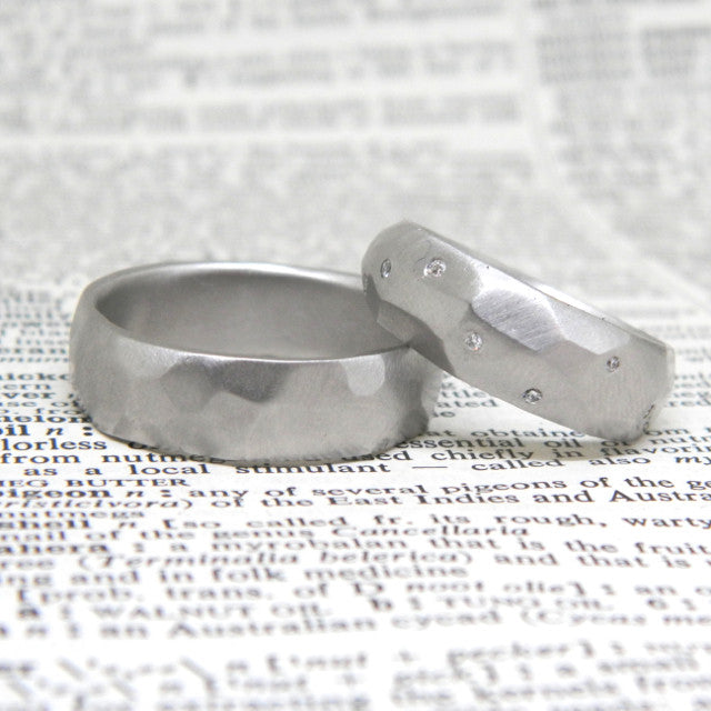 One of a kind wedding rings for Christine and Andrew