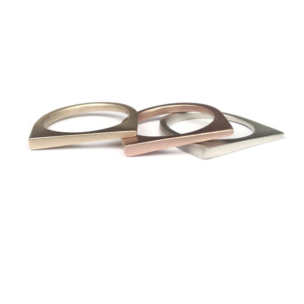 e. scott nuptials... The Asymmetric Women's Wedding Ring