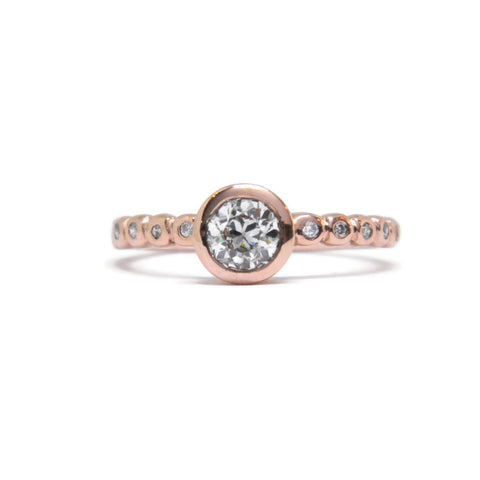 The Bubble Engagement Ring - Old Mine Cut Diamond