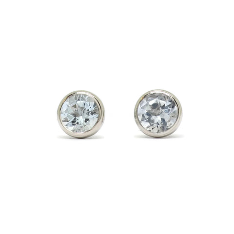 Cocktail Studs- Pale Aquamarine
