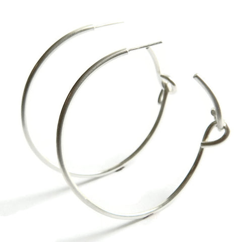 forget-me-knot large plain hoops - e. scott originals