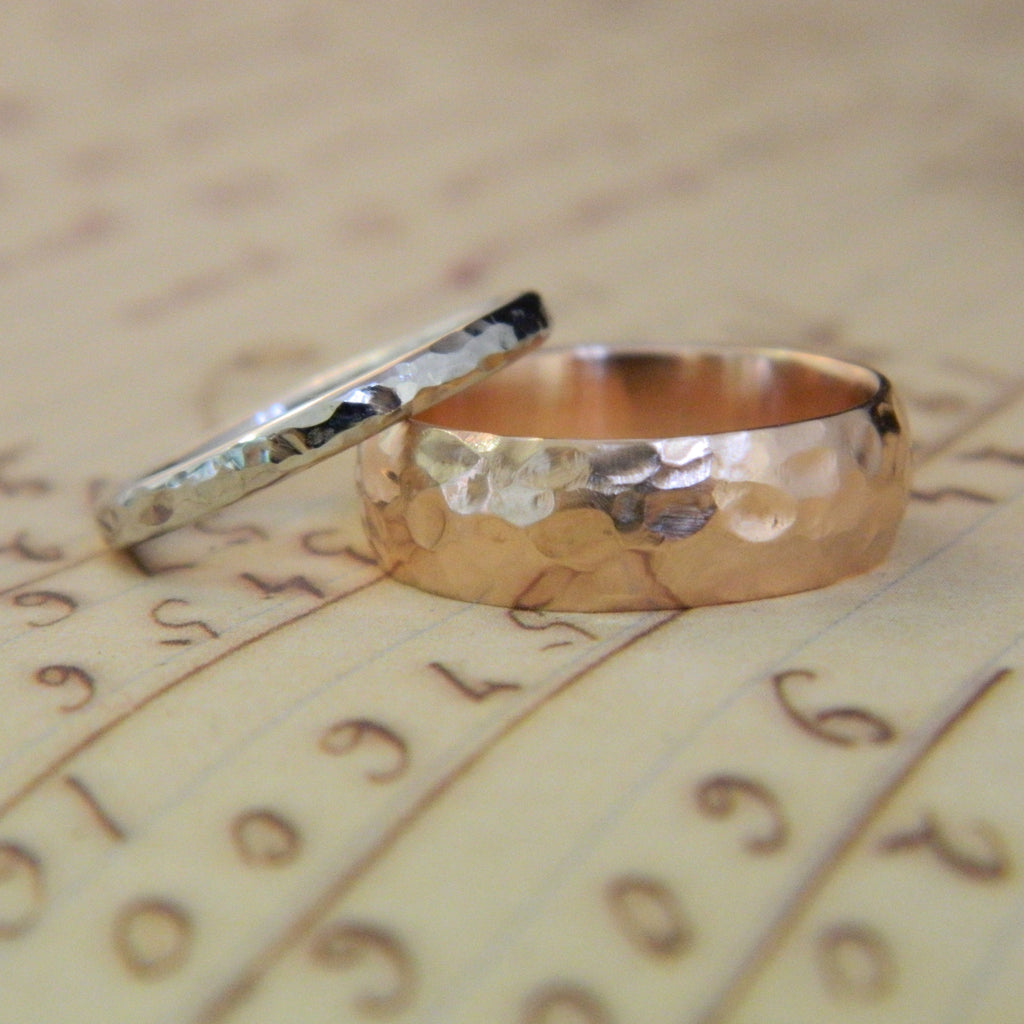 One of a kind wedding rings for Rob and Chelsey - e. scott originals