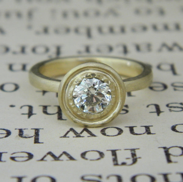 One of a kind engagement ring for Molly from Roc - e. scott originals