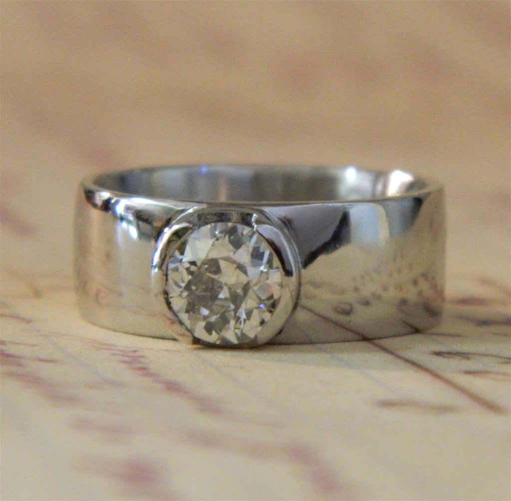 One of a kind engagement ring for Hannah from Mike - e. scott originals