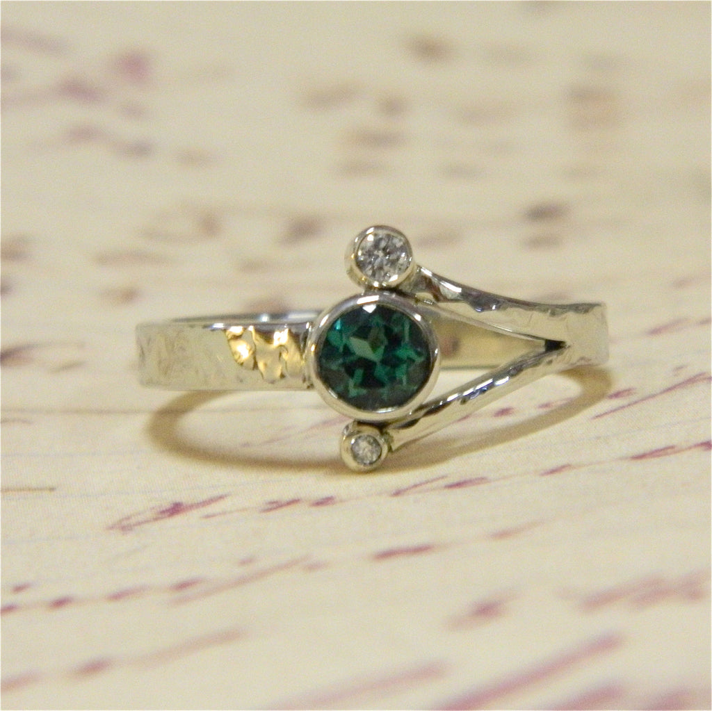 One of a kind engagement ring for Anna from Ben - e. scott originals
