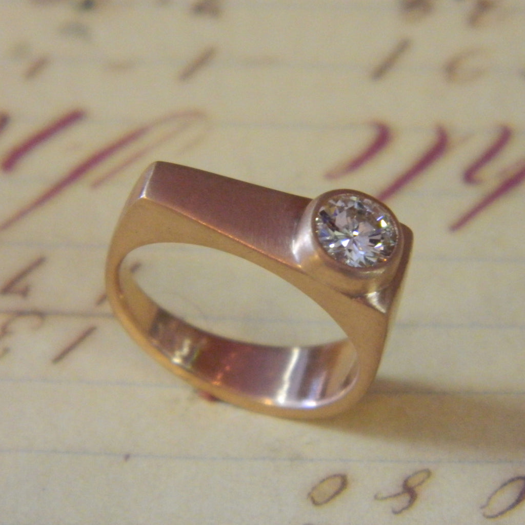 One of a kind engagement ring for Lindsay from Annie - e. scott originals