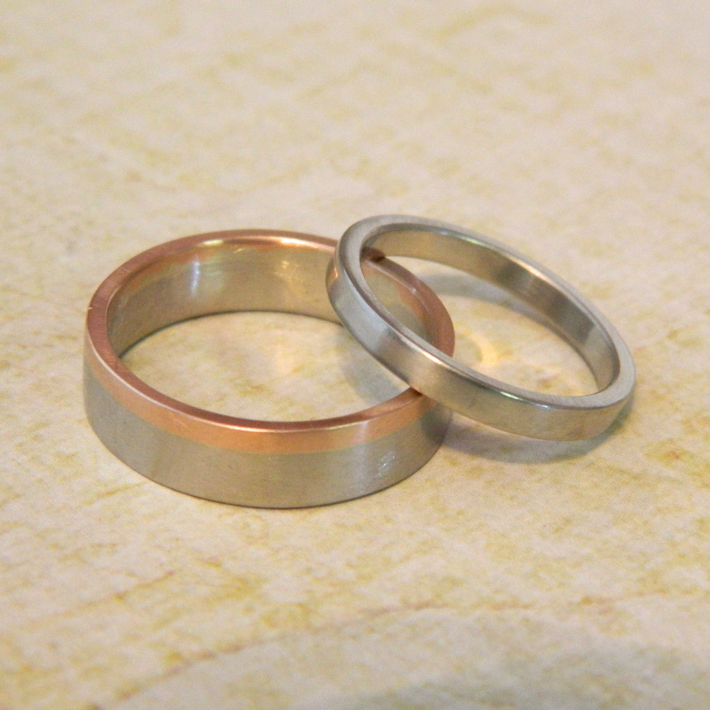 One of a kind wedding rings for Tim and Jessie - e. scott originals
