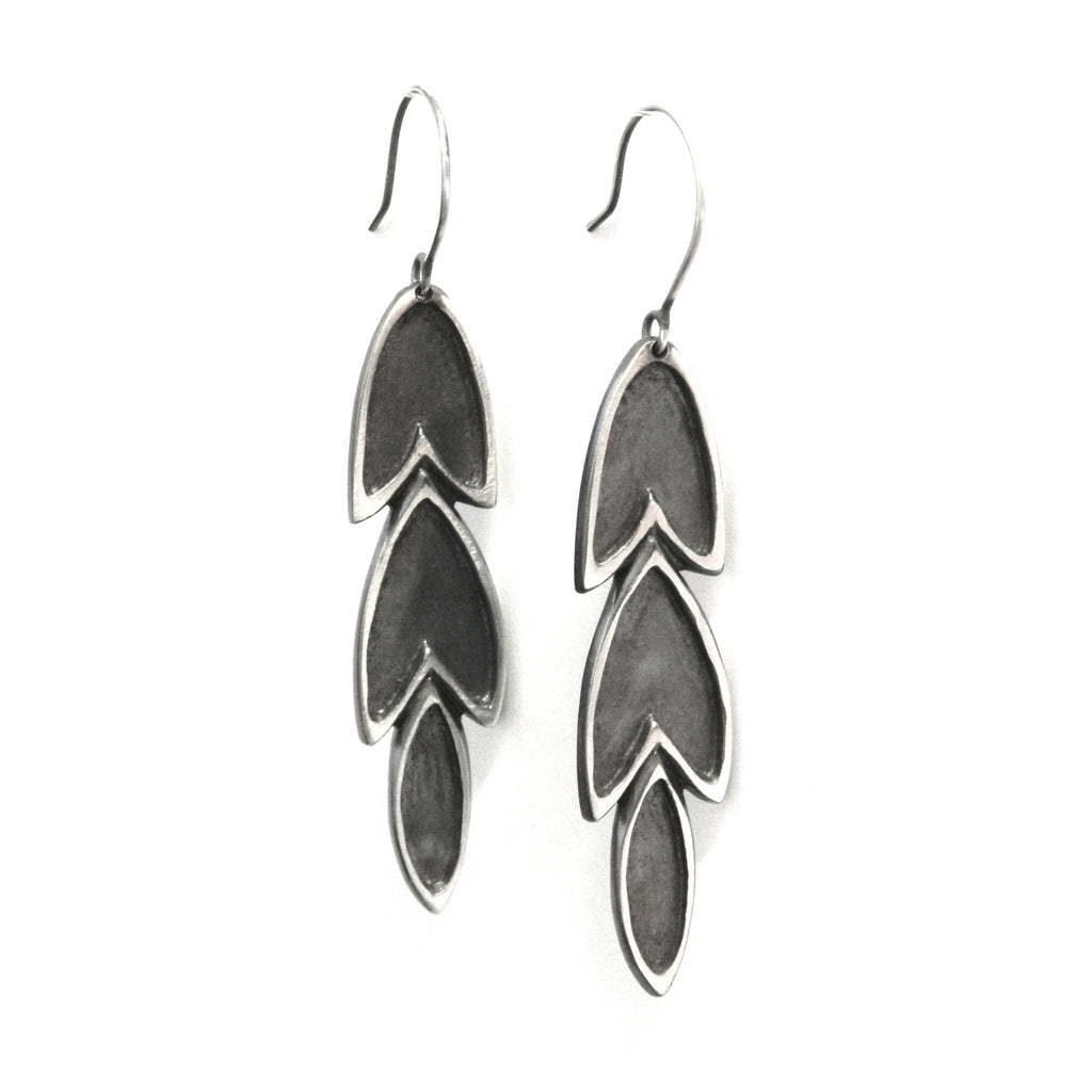 The Revival long leaf earrings - e. scott originals