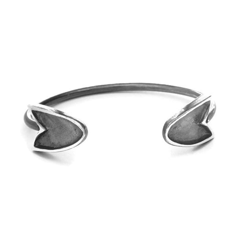 The Revival shielded heart cuff bracelet - e. scott originals