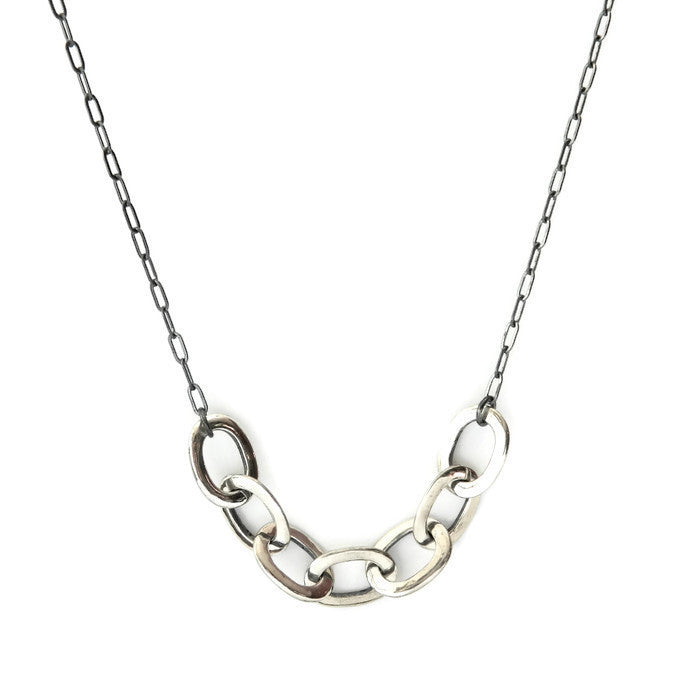 Thin 7 link long necklace - e. scott originals