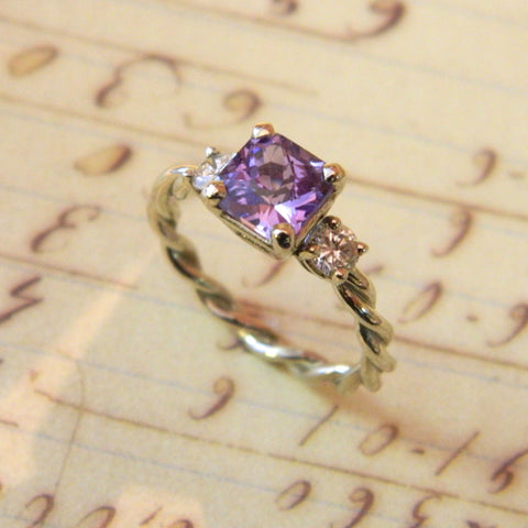 One of a kind engagement ring for Brittany from Chris - e. scott originals