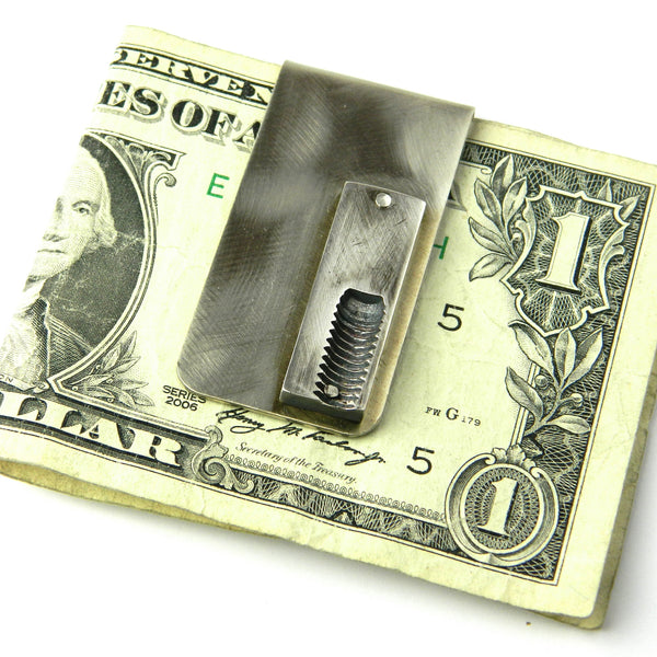 screw print money clip - e. scott originals