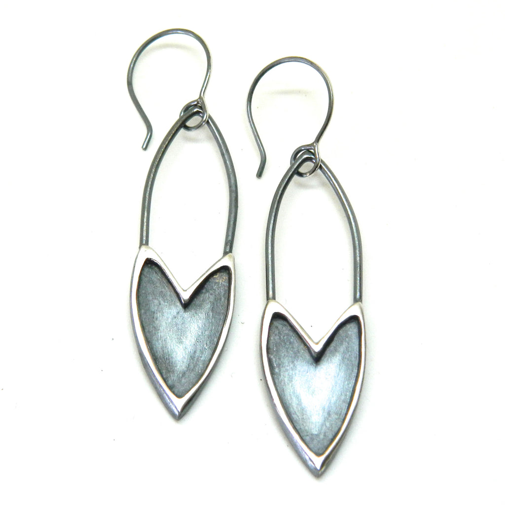 The Revival shielded heart earrings - e. scott originals