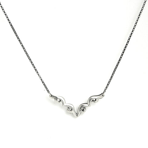 lace V necklace - e. scott originals