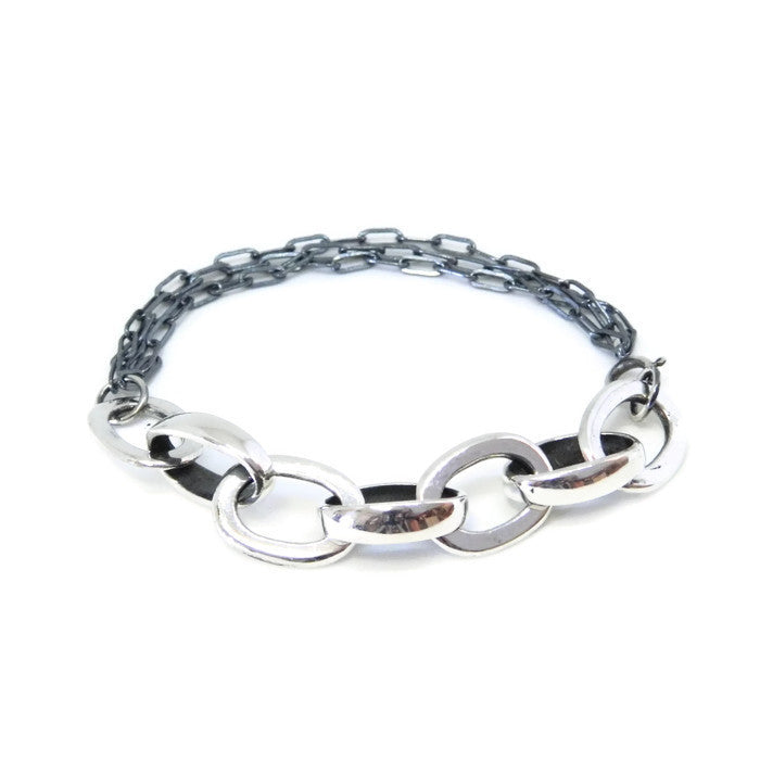 Fat & Thin link bracelet - e. scott originals