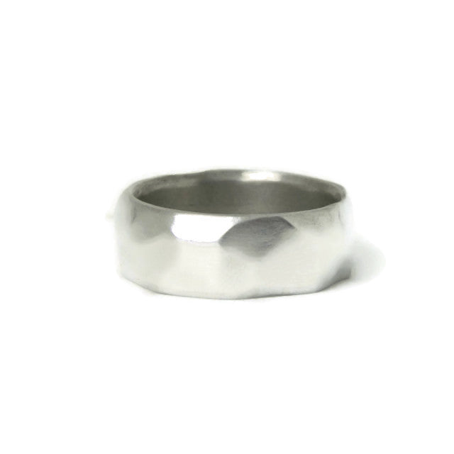 e. scott nuptials... The Facet Wide Men's Ring