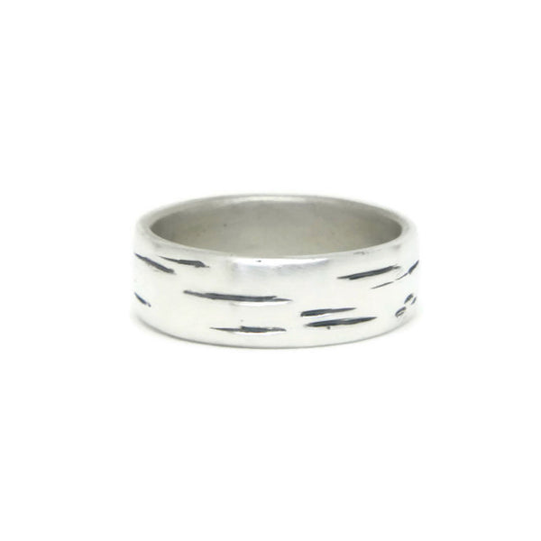e. scott nuptials... The Woodland Wide Men's Ring - e. scott originals