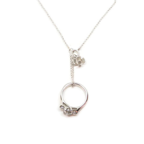 Ring Keeper Necklace- Rose