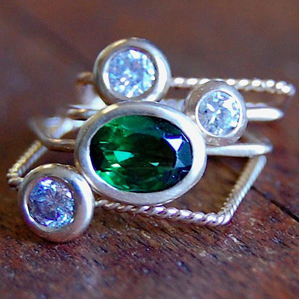 For Becky, stack rings - e. scott originals