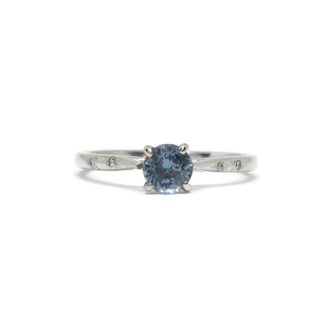 The Dainty- Montana Blue Sapphire Solitaire