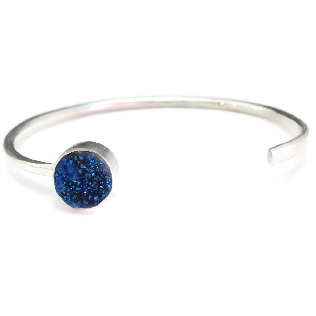 Druzy cuff bracelet- customizable with dates or initials