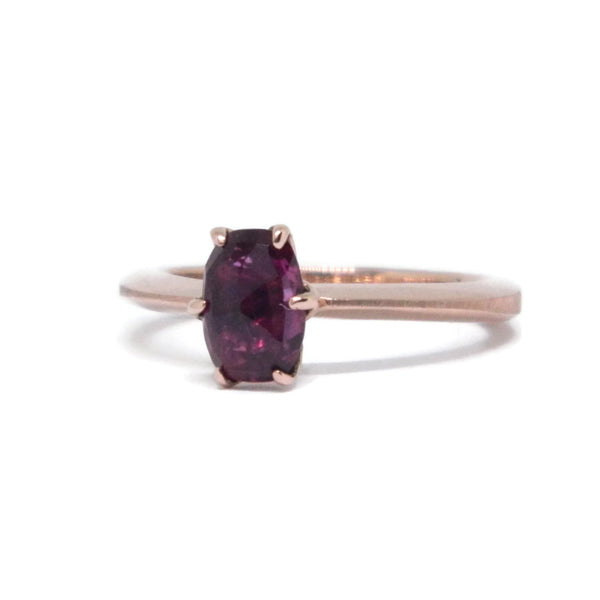 The Flora- Thai Ruby & 14k Rose Gold
