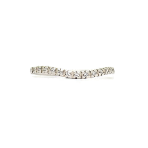 e. scott nuptials... The Glimmer Curve Women's Ring