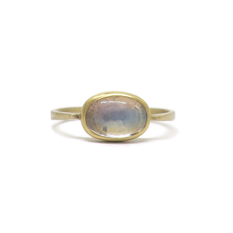 Aura Ring- Madagascar Rainbow Moonstone