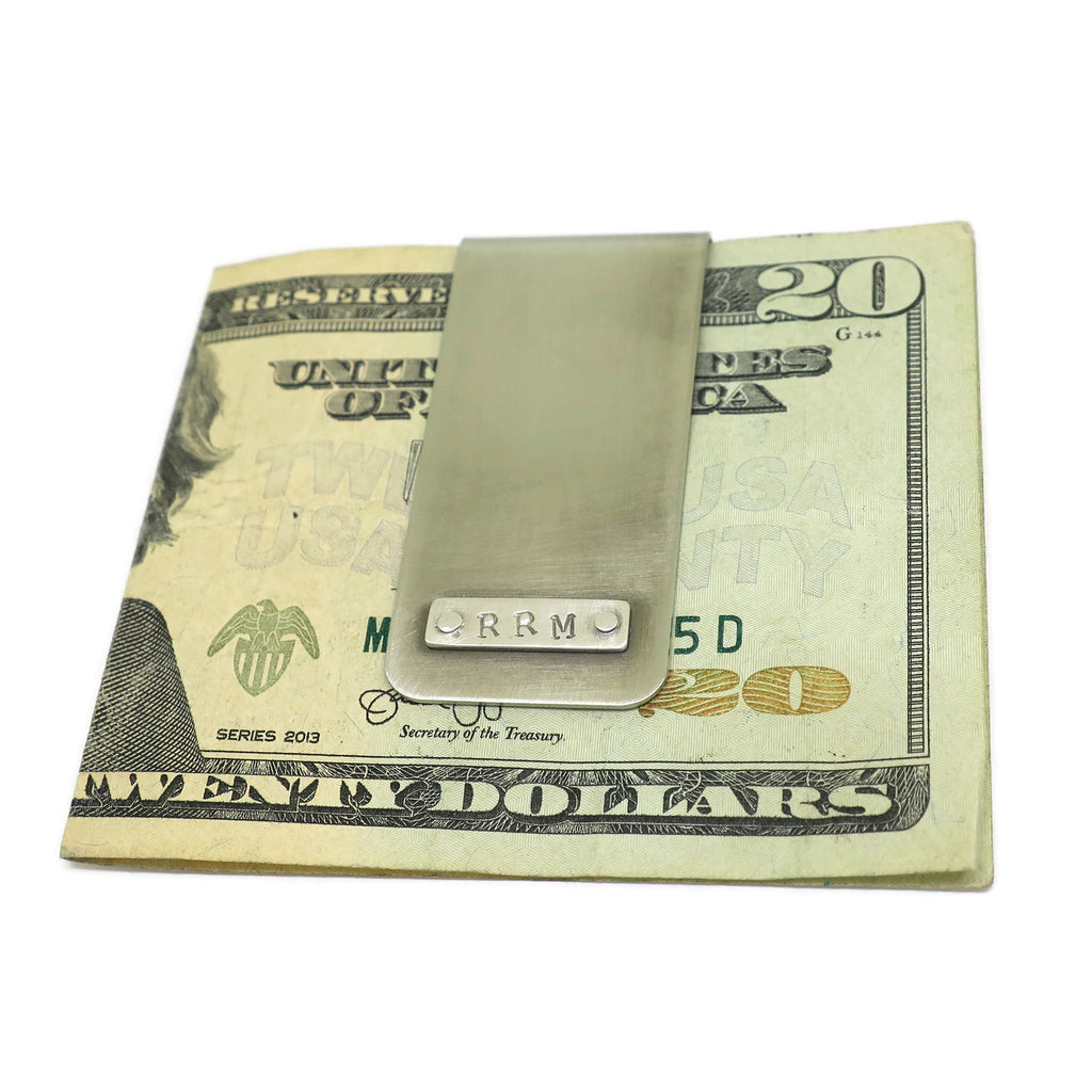 custom initials money clip