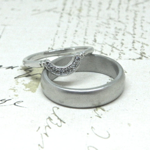 One of a kind Wedding Rings for Katelyn and Isaac