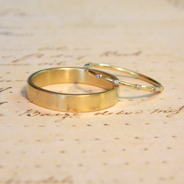 One of a kind wedding rings for Libby and Jay