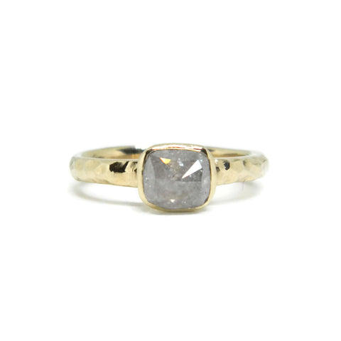 The Modern- 1.03ct Grey Diamond & 14k Yellow Gold