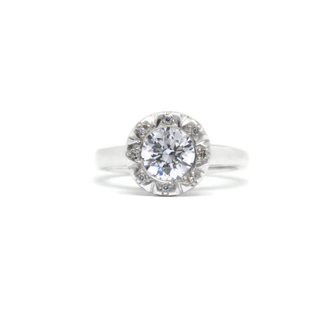 e. scott nuptials... The Modern Halo Engagement Ring