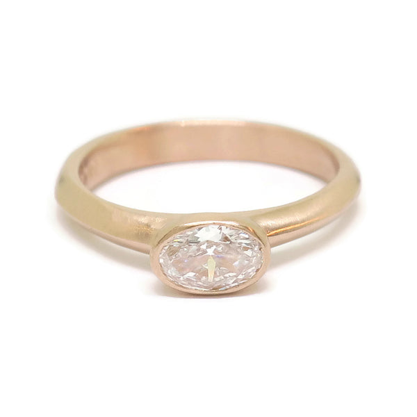 The Modern - 14k rose gold & Moval Diamond