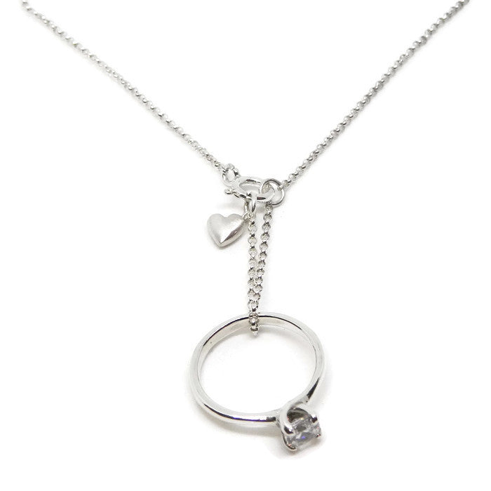 Ring Keeper Necklace- Lil' Love Heart