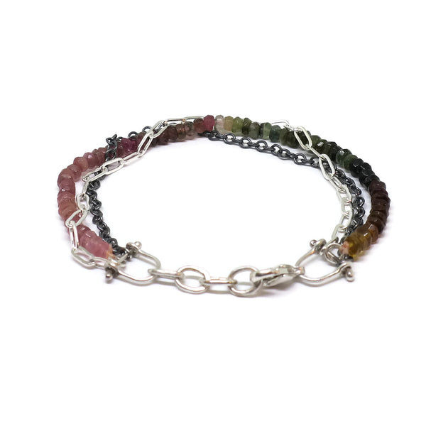 Riptide Bracelet- Multicolored Tourmaline
