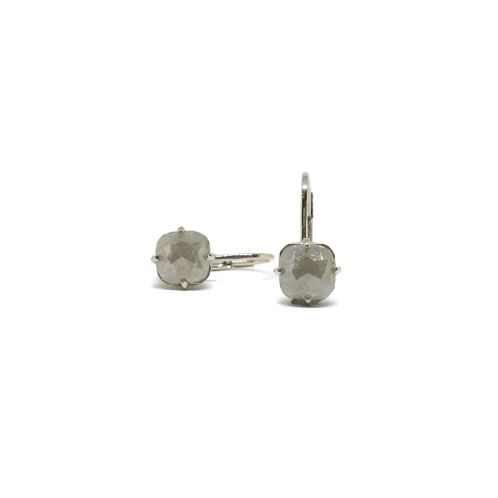 Rustic Drops- Grey Diamonds