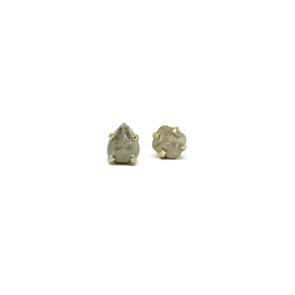 Rustic Studs- Mismatched Diamonds