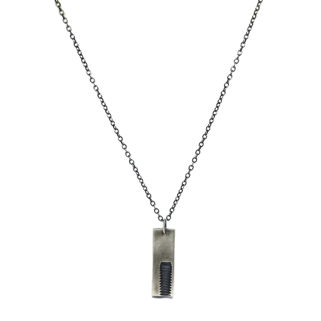 screw imprint necklace