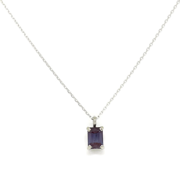 Simple Solitaire Necklace- Alexandrite