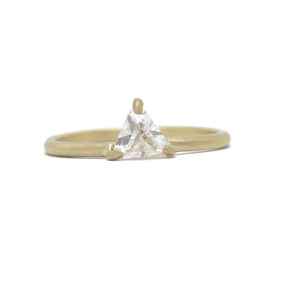 The Triangle- .51ct reclaimed diamond & 14k yellow