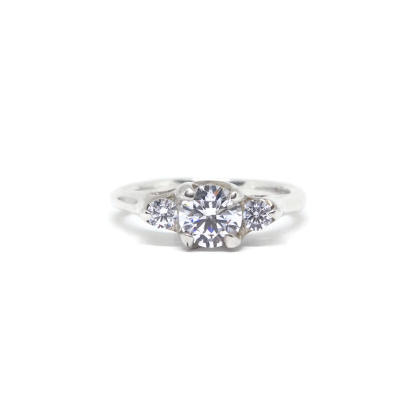 e. scott nuptials... The Woven Three Stone Engagement Ring