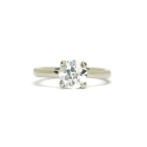 The Woven Solitaire- .96ct Old Mine Cut