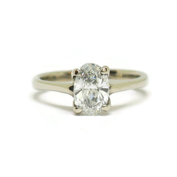 The Woven Tapered- .98ct Oval Diamond