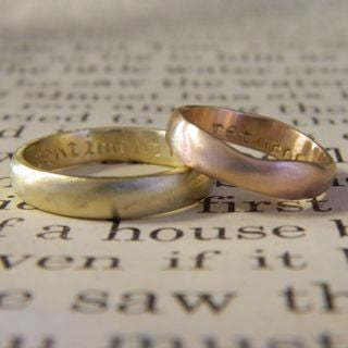 One of a kind wedding rings for Ayora and Anne - e. scott originals