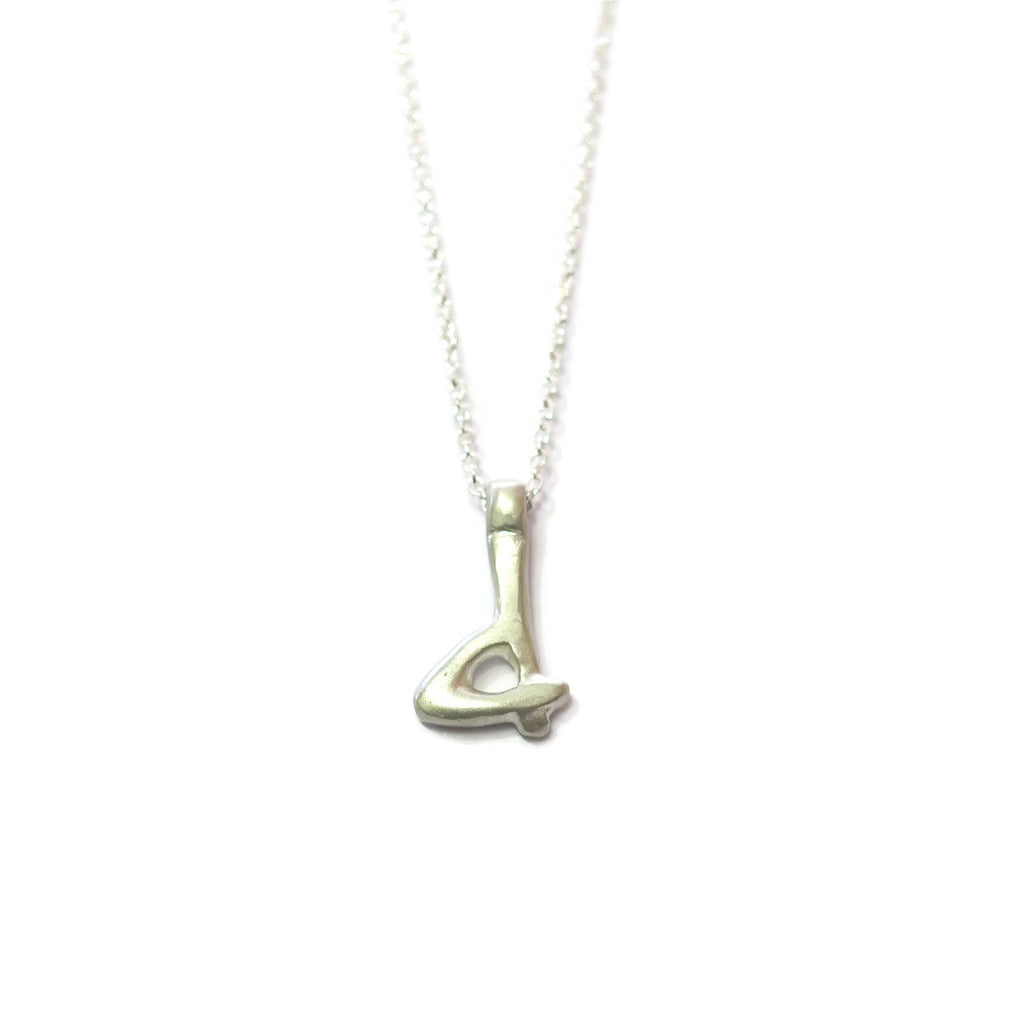 d - handwritten letter necklace
