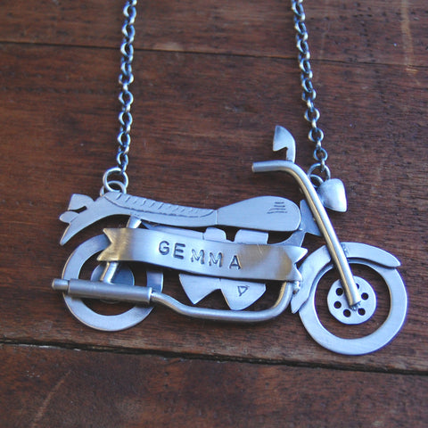 For Gemma, Motorcycle pendant - e. scott originals