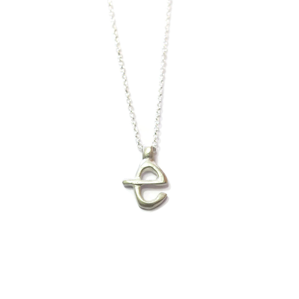 e - handwritten letter necklace