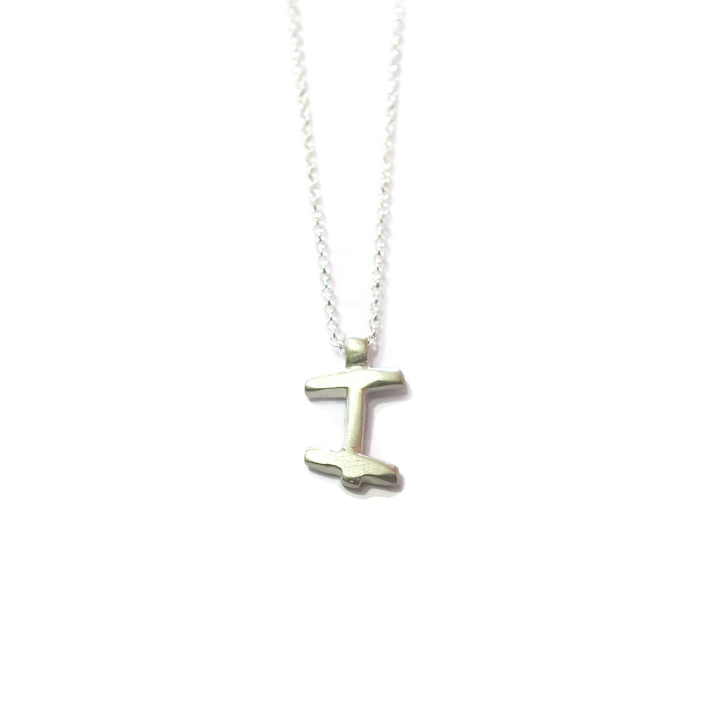 I - handwritten letter necklace